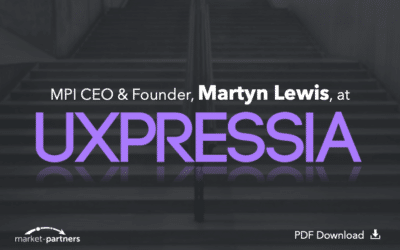 Market-Partners Inc. CEO, Martyn Lewis, at UXPressia